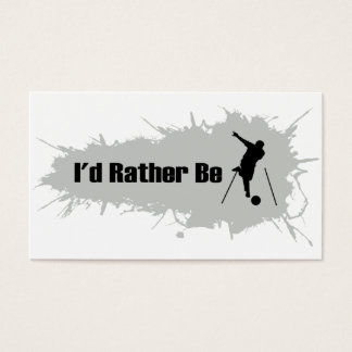 I'd Rather Be Bowling Business Card
