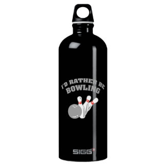 I'd Rather Be Bowling Water Bottle