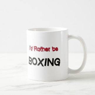 I'd Rather Be Boxing Classic White Coffee Mug