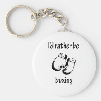 I'd Rather Be Boxing Keychain