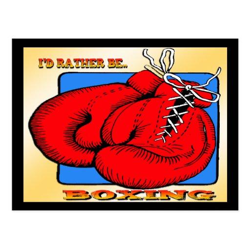 I'd Rather be Boxing Postcard
