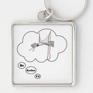I'd rather be Bungy Jumping Keychain