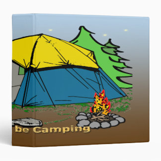 """I'd Rather Be Camping  1.5"""" Binder"""