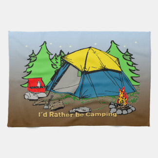 I'd Rather Be Camping American MoJo Kitchen Towels