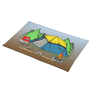 I'd Rather Be Camping American MoJo Placemats