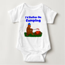 I'd Rather Be Camping Baby Bodysuit