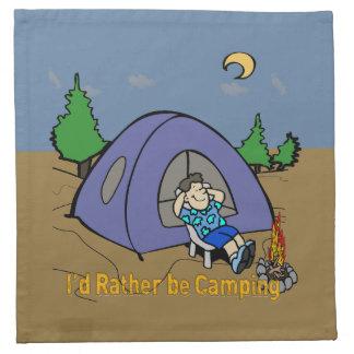 I'd Rather Be Camping - Camp Scene American MoJo C Napkin