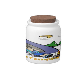 I'd Rather Be Camping - Camp Scene Candy Jar