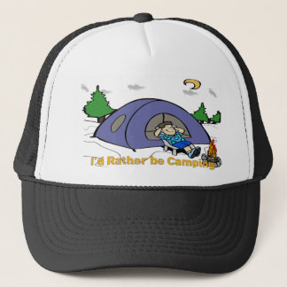 I'd Rather Be Camping - Camp Scene Hat