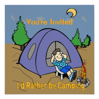 I'd Rather Be Camping - Camp Scene Invitation