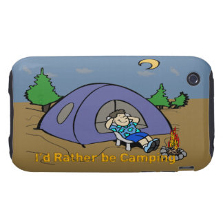 I'd Rather Be Camping - Camp Scene iPhone 3G/3GS C iPhone 3 Tough Cases
