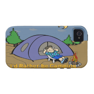 I'd Rather Be Camping - Camp Scene iPhone 4G/4S Ca Vibe iPhone 4 Case