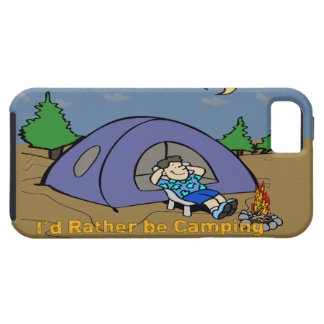 I'd Rather Be Camping - Camp Scene iPhone 5G Ca iPhone 5 Cover