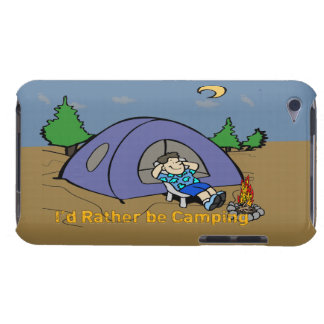I'd Rather Be Camping - Camp Scene iPod Touch Case
