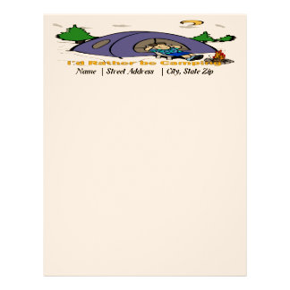 I'd Rather Be Camping - Camp Scene Letterhead