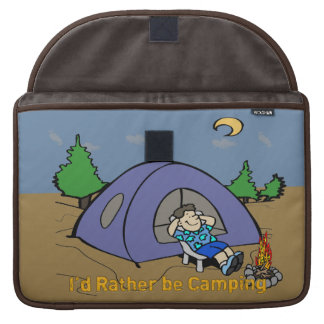 I'd Rather Be Camping - Camp Scene Macbook Pro Ric Sleeve For MacBooks