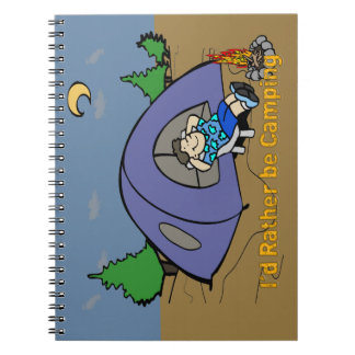 I'd Rather Be Camping - Camp Scene Notebook