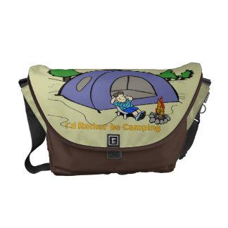 I'd Rather Be Camping - Camp Scene Rickshaw Messen Courier Bag