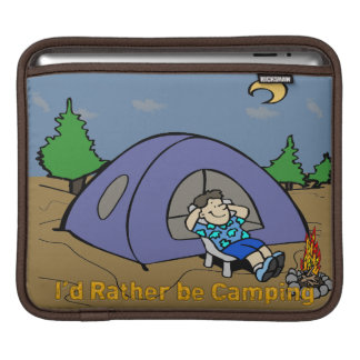 I'd Rather Be Camping - Camp Scene Rickshaw Sleeve iPad Sleeves