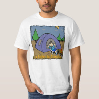 I'd Rather Be Camping - Camp Scene T-Shirt