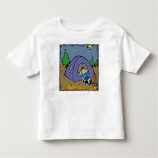I'd Rather Be Camping - Camp Scene Toddler T-Shirt