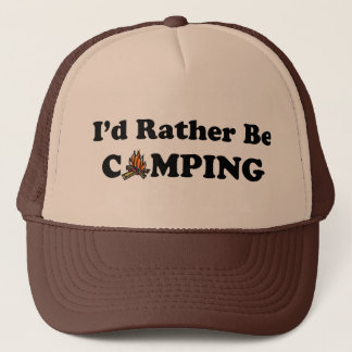 I'd Rather Be Camping Campfire Hat