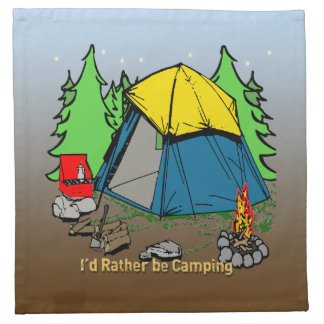I'd Rather Be Camping Cloth Cocktail American MoJo