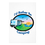 I'd rather be camping customized stationery