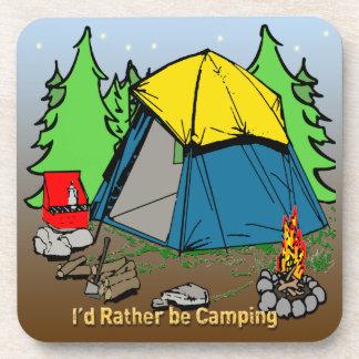 I'd Rather Be Camping Drink Coaster Set (6)