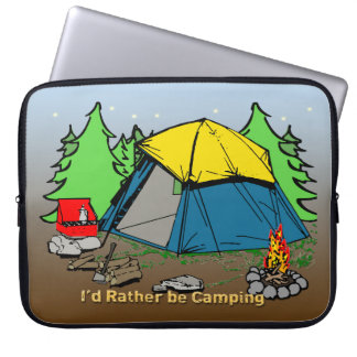 I'd Rather Be Camping Electronics Bag