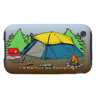 I'd Rather Be Camping iPhone 3g Case-Mate Tough Ca Tough iPhone 3 Cases