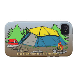 I'd Rather Be Camping iPhone 4G Case-Mate Tough™ C Case For The iPhone 4