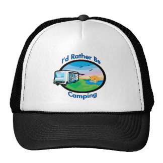 I'd rather be camping mesh hat