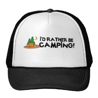 I'd Rather Be Camping Mesh Hats