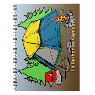I'd Rather Be Camping Notebook