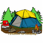 "I&#39;d Rather Be Camping Photo Sculpture<br><div class=""desc"">I&#39;d Rather Be Camping Photo Sculpture. This I&#39;d Rather Be Camping design features a blue tent, pine trees, campfire, red camp stove with decorative text I&#39;d Rather Be Camping. Stand out from the crowd with the fun I&#39;d Rather Be Camping design brought to you by Mind Design Grafx™. Perfect gift...</div>"