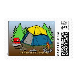 I'd Rather Be Camping Postage