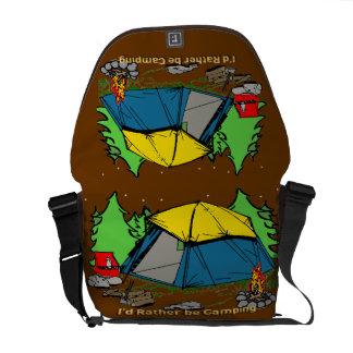 I'd Rather Be Camping Rickshaw Messenger Bag