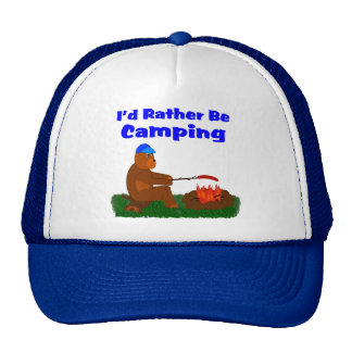 I'd Rather Be Camping Trucker Hat