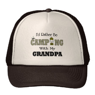 I'd Rather Be Camping  with Grandpa Hats