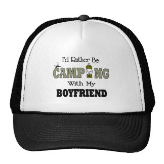 I'd Rather Be Camping  with My Boyfriend Trucker Hat