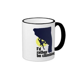 I'd rather be climbing mug! ringer coffee mug