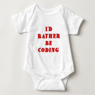 Id Rather be Coding Baby Bodysuit
