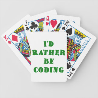Id Rather be Coding Deck Of Cards