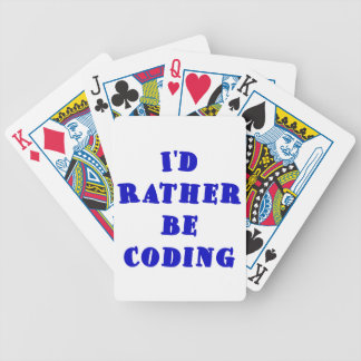 Id Rather be Coding Poker Deck