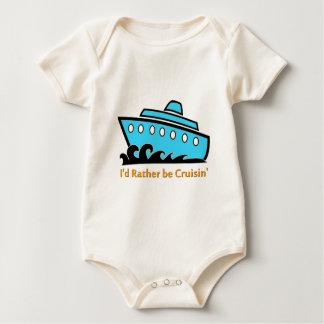 I'd Rather Be Cruising blue Baby Bodysuit