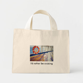 I'd rather be cruising tote bag