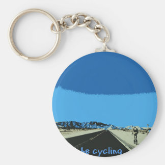 id rather be cycling keychain