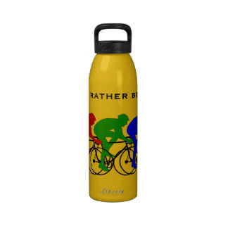 I'd Rather be Cycling Liberty Bottle Reusable Water Bottles