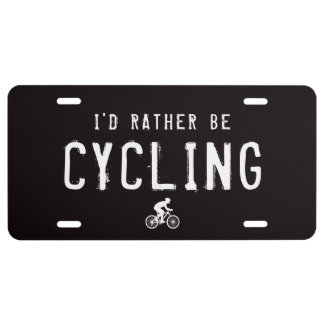 I'd Rather be Cycling License Plate